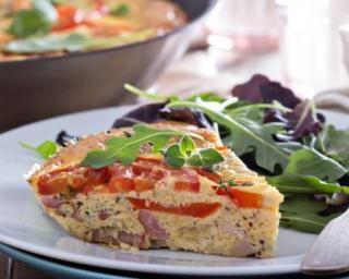Frittata aux légumes et jambon vapeur au Companion