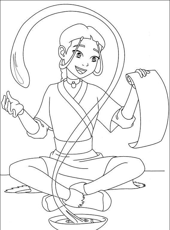 I Have Download Katara Avatar Friends Are Read Letter Coloring