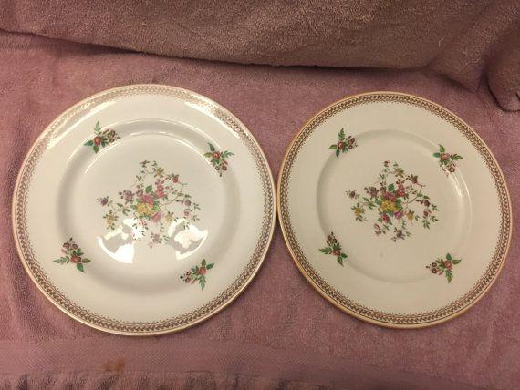 & Pair of Copeland Spode Gresham dinner plates NICE