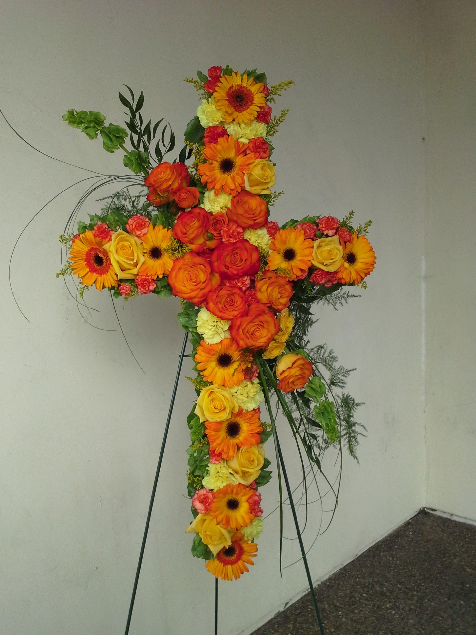 Orange Funeral Cross Topsimages