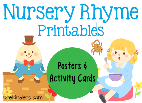Nursery Rhyme Printables Toddler