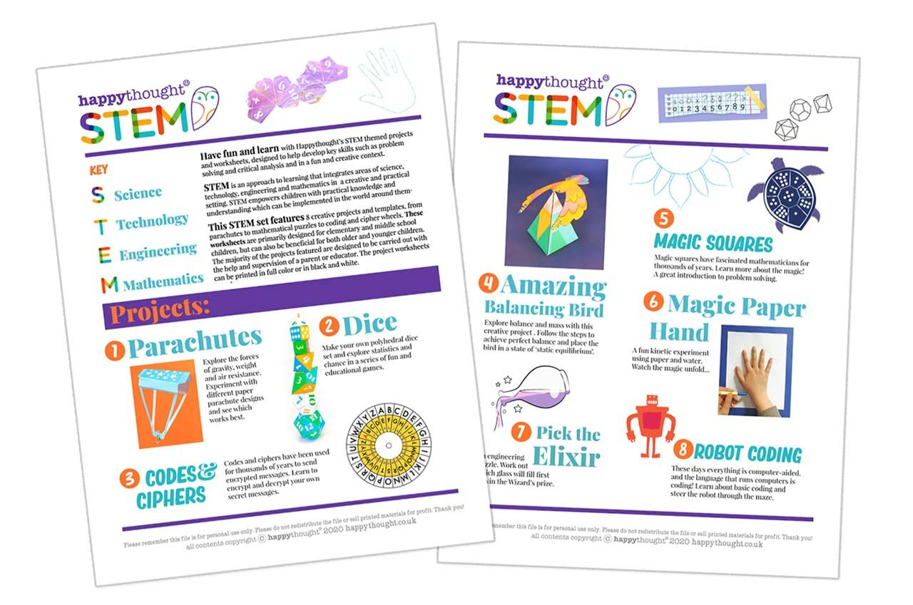 Have Fun And Learn With Happythought S Stem Themed