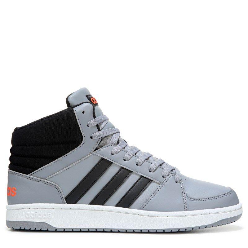 Adidas Men's Neo VS Hoops Mid Top Sneakers (Grey/Black/Red)