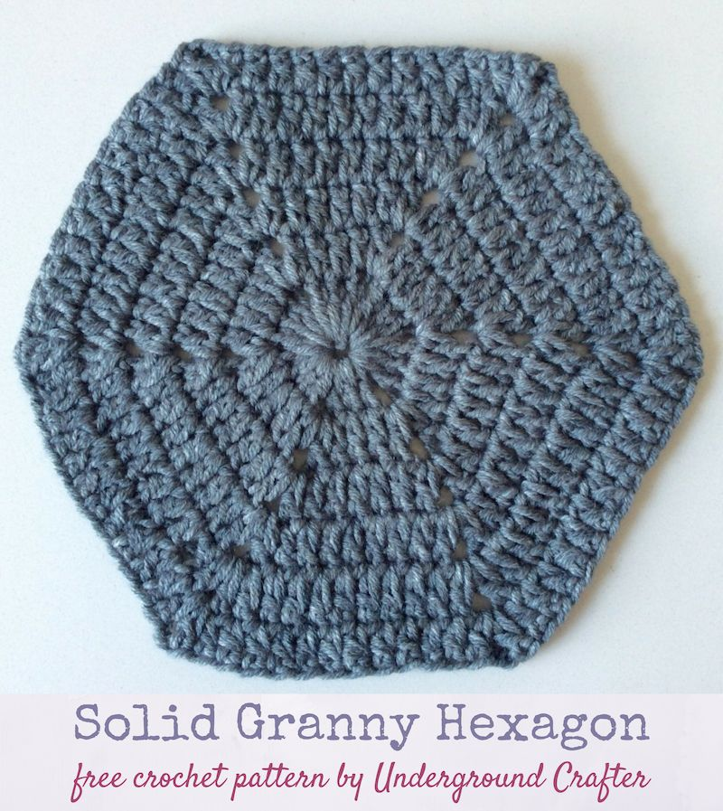 Free Crochet Pattern Solid Granny Hexagon In Lion Brand Jeans By
