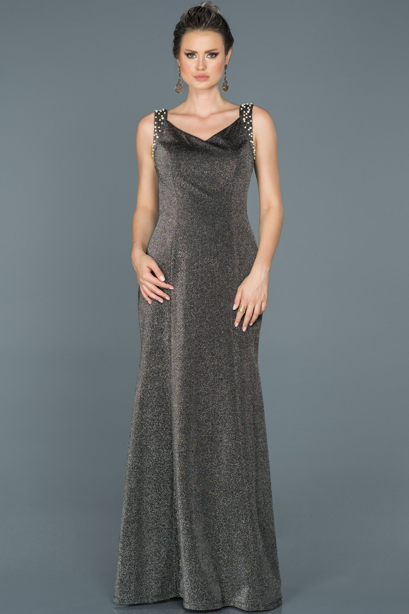 Siyah Kolsuz Simli Elbise Abu442 Elbise The Dress Elbise Modelleri