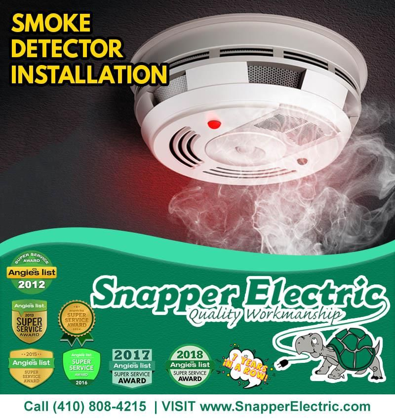 We offer smoke detectors installation and replacement