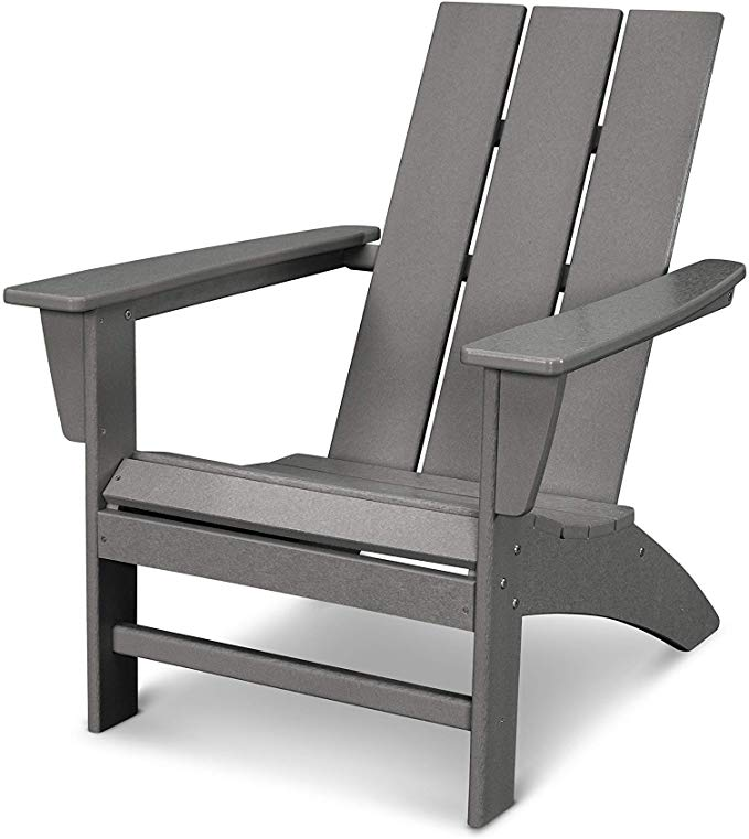 Amazon Com Polywood Ad420gy Modern Adirondack Chair Slate Grey Gateway Modern Adirondack Chair Modern Adirondack Recycled Plastic Chair