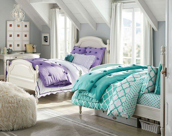 7 Inspiring Kid Room Color Options For Your Little Ones: Awesome Twin Bedroom Ideas For Girls!