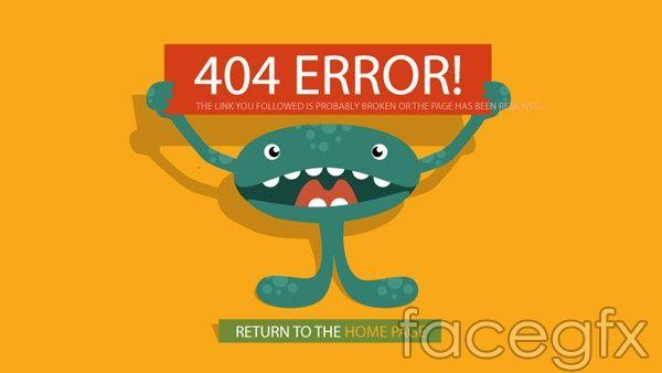 Funny 404 error page vector