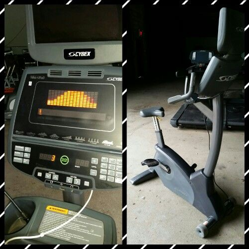 Cybex 750c Upright Bike With Lcd Tv Used Fitness Equipment No Equipment Workout Upright Bike