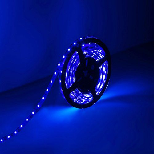 Amazon Com Le Lampux 12v Flexible Led Strip Lights Led Tape Blue 300 Units 3528 Leds No Flexible Led Strip Lights Led Strip Lighting 12v Led Strip Lights