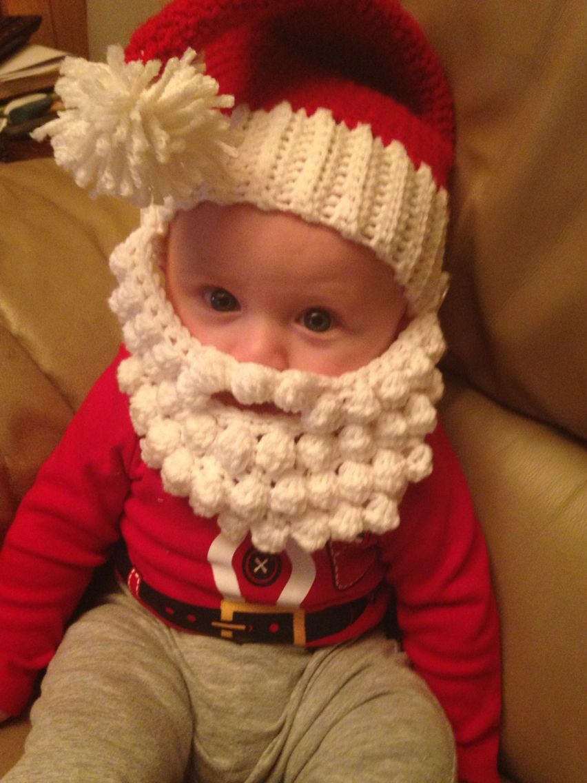 Crochet Santa Hat Amp Beard Crochet Santa Crochet Santa