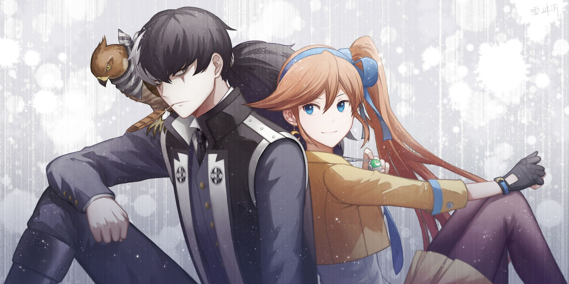 Ace Attorney Simon Blackquill And Athena Cykes By Xue Lian Yue