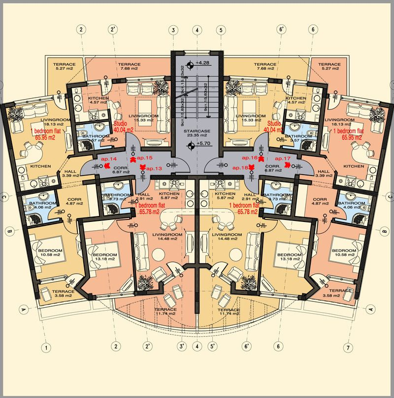 Studio apartment floor plans someday pinterest for Studio apartments plans