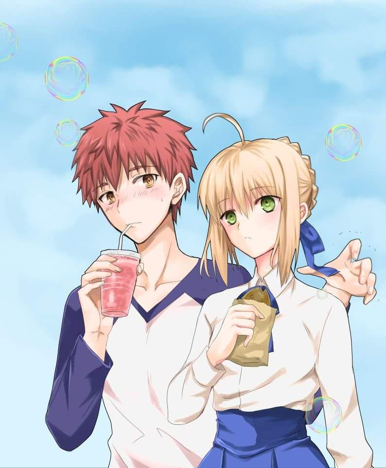 Pin By Anton Chernyshev On Fate Anime Fate Stay Night Saber X Shirou
