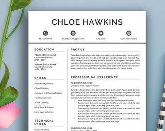 Professional Resume Template CV Template Cover by ResumeExpert