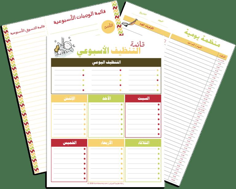 التنظيم والتخطيط مهارة مكتسبة رحلة تعليمنا المنزلي Arabic Lessons Lesson Map