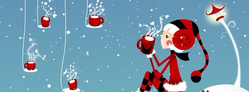 facebook cover facebook header free christmas holidays new year eve coffee red blue facebook cover f