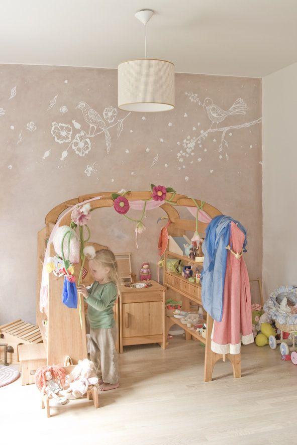 Wandgestaltung für ein Mädchenzimmer playroom in 2019