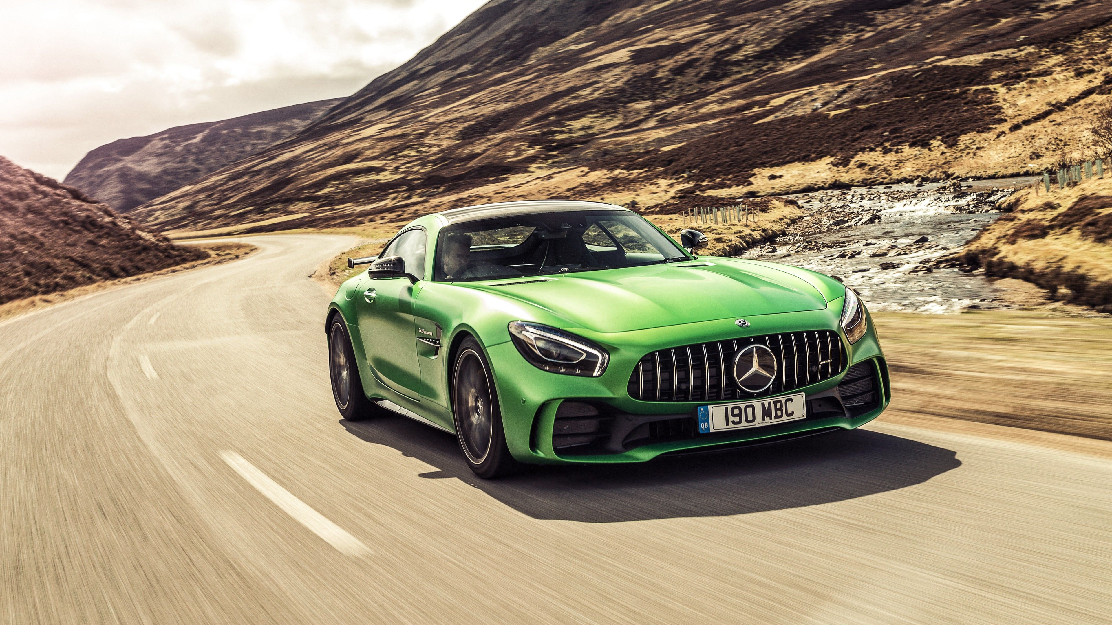 Large Mercedes AMG GT-R Coupe Sports Super Car Wall Poster Art Picture Print