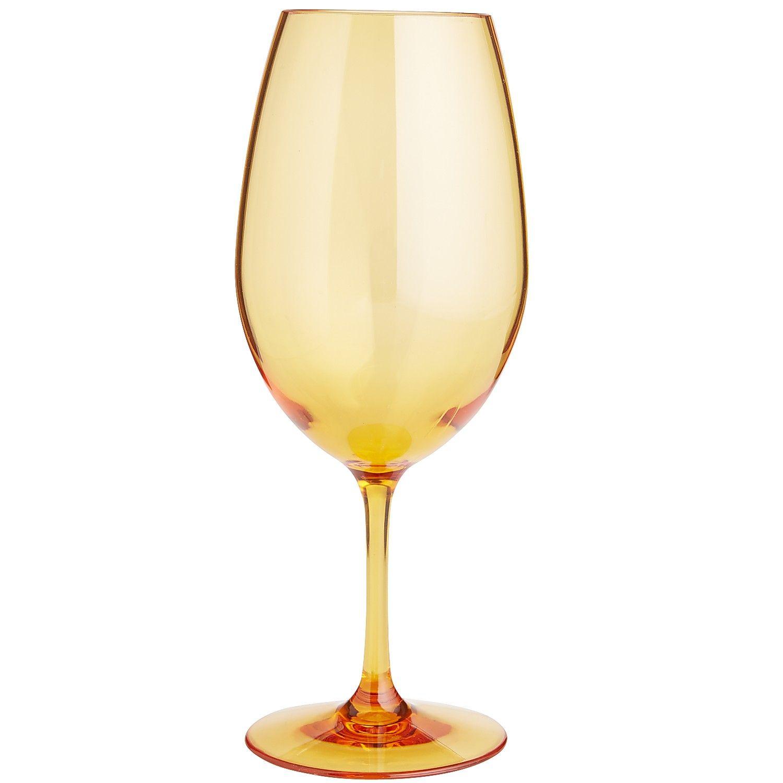Clarity Orange Acrylic Wine Glass | *Drinkware > Stemware ...