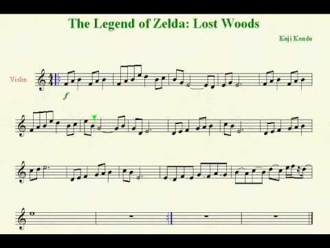 Loz Lost Woods Violin Sheet Music Violin Sheet Music Violin