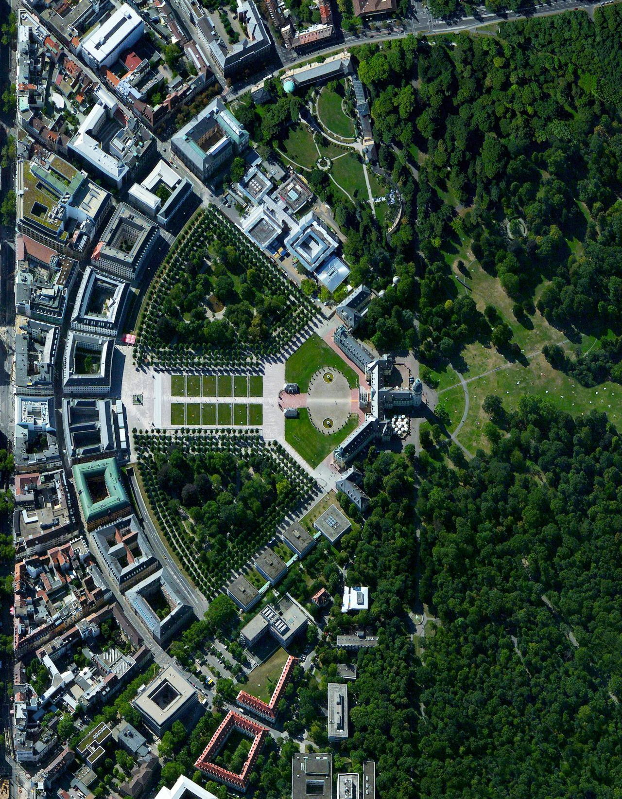 The City Of Karlsruhe Germany Was Planned With A Palace Tower At