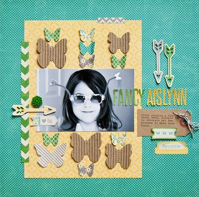 Pam Brown Fancy Aislynn Layout via Jillibean Soup Blog