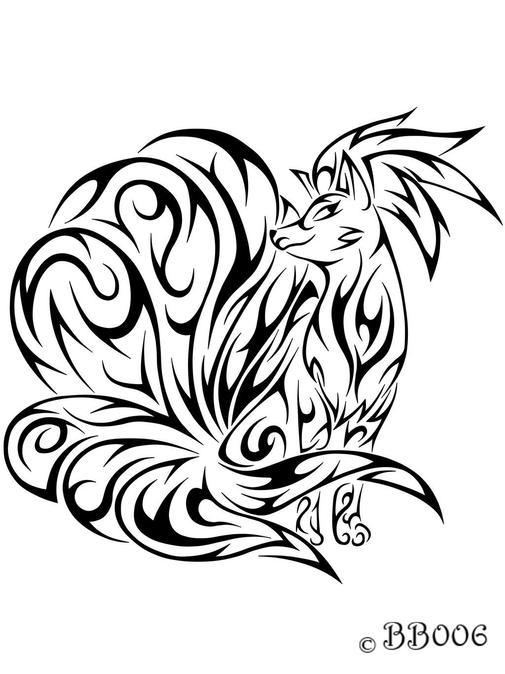 038 Tribal Ninetails By Blackbutterfly006 D5udywh Jpg 1024 1365 Tribal Pokemon Pokemon Tattoo Tribal Drawings
