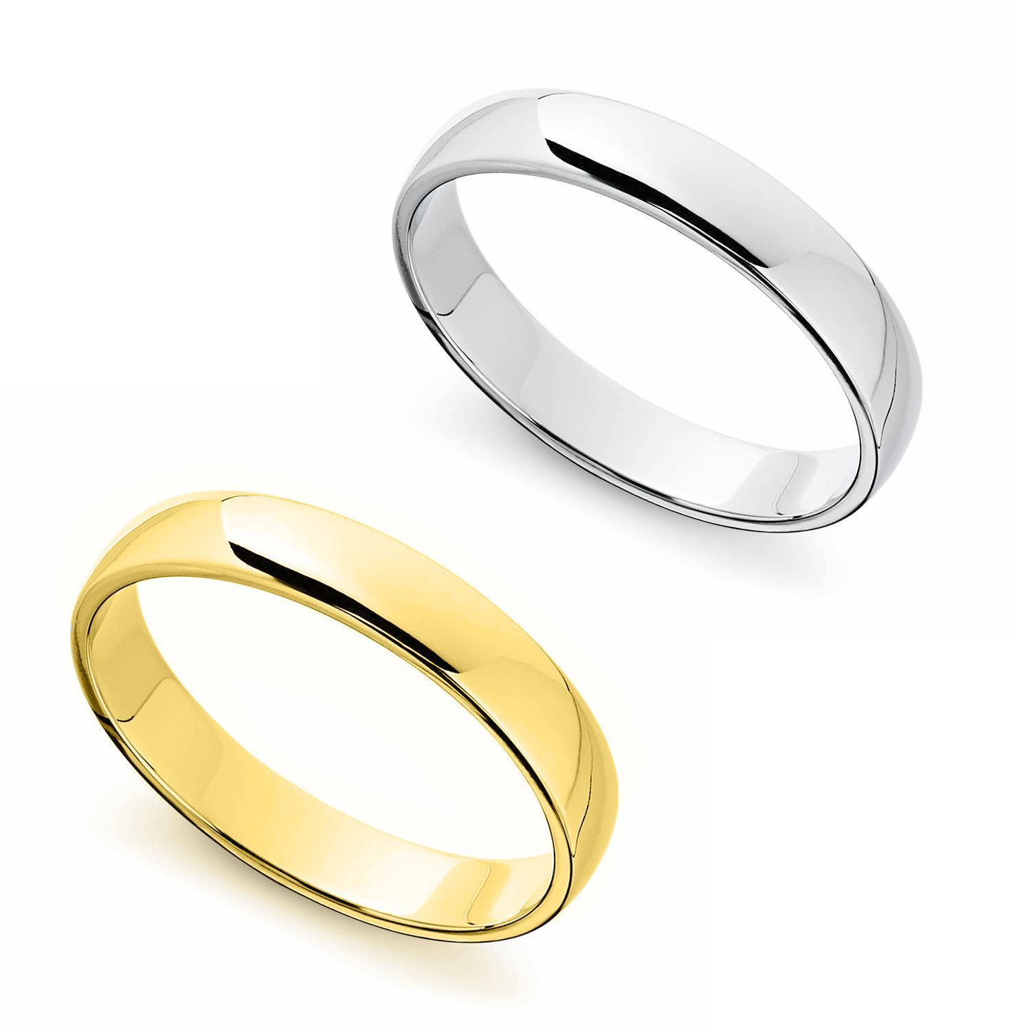 14k yellow or white gold standard fit men's and women's 4