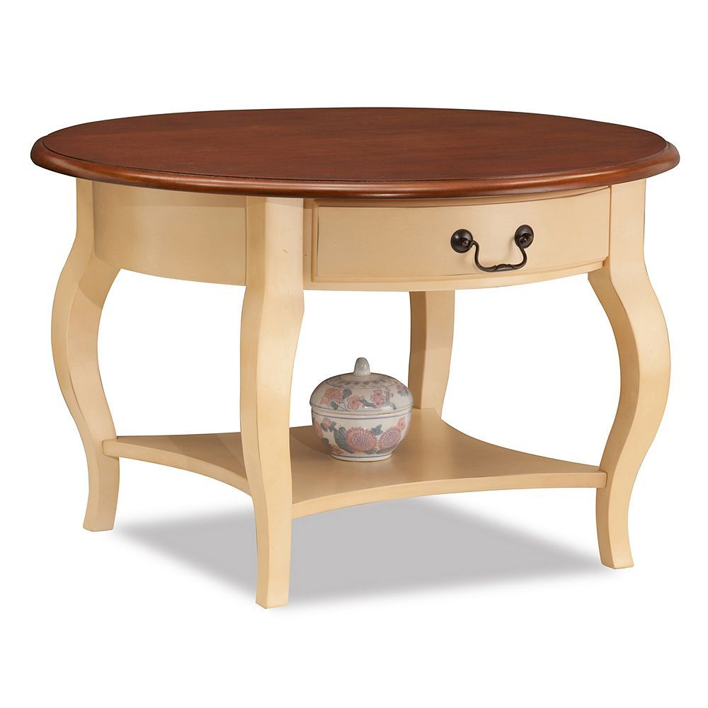 Leick Furniture Round Coffee Table Coffee table with