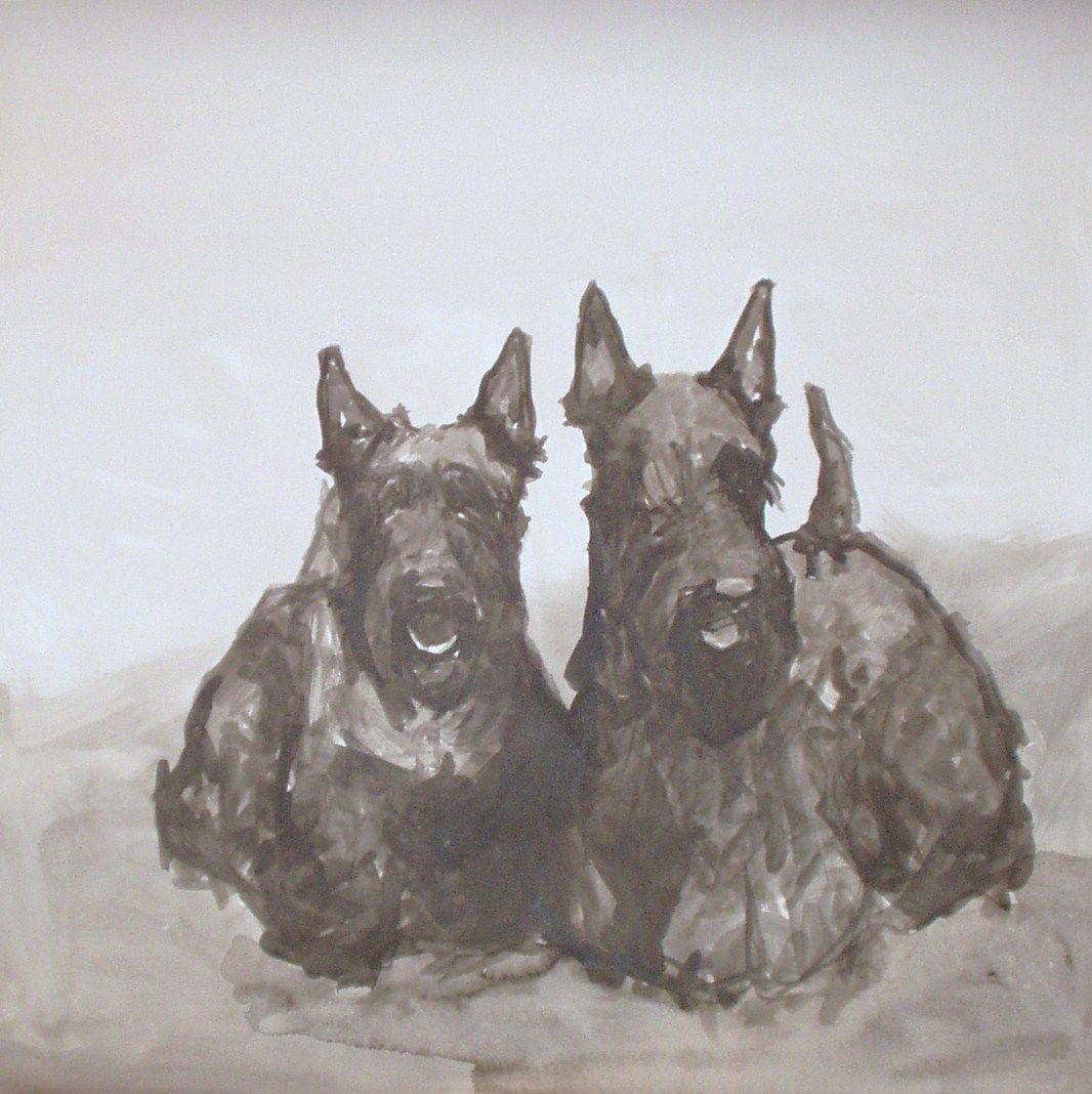 Stupell yorkie dog 3 panel decorative fireplace screen - Dogs