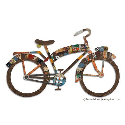 Industrial Bike Wall Art Sculpture   Dolan Geiman