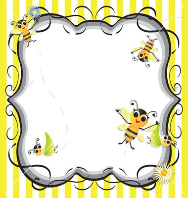 Bee Baby Shower Party Invitation Vector 837701