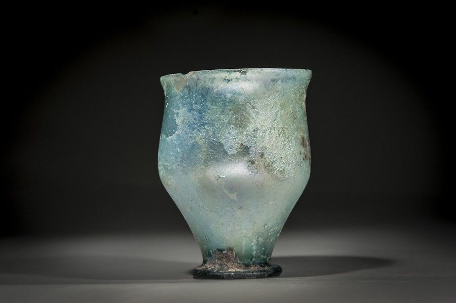 Roman Glass Goblet with a Ring Base