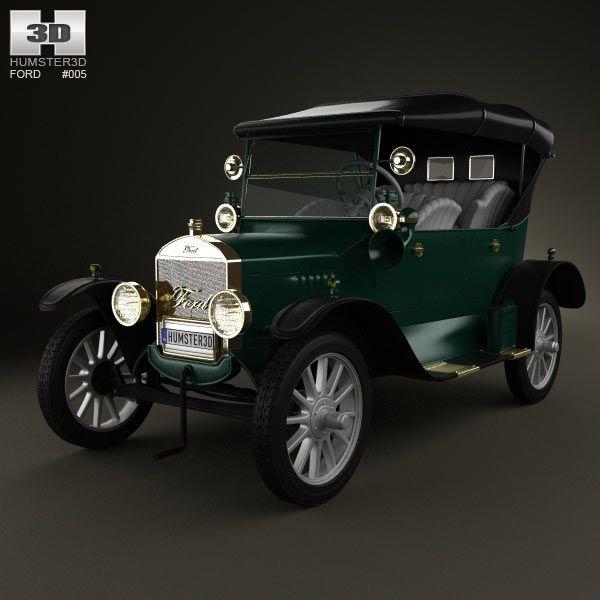 3d Model Of Ford Model T 4door Tourer 1924