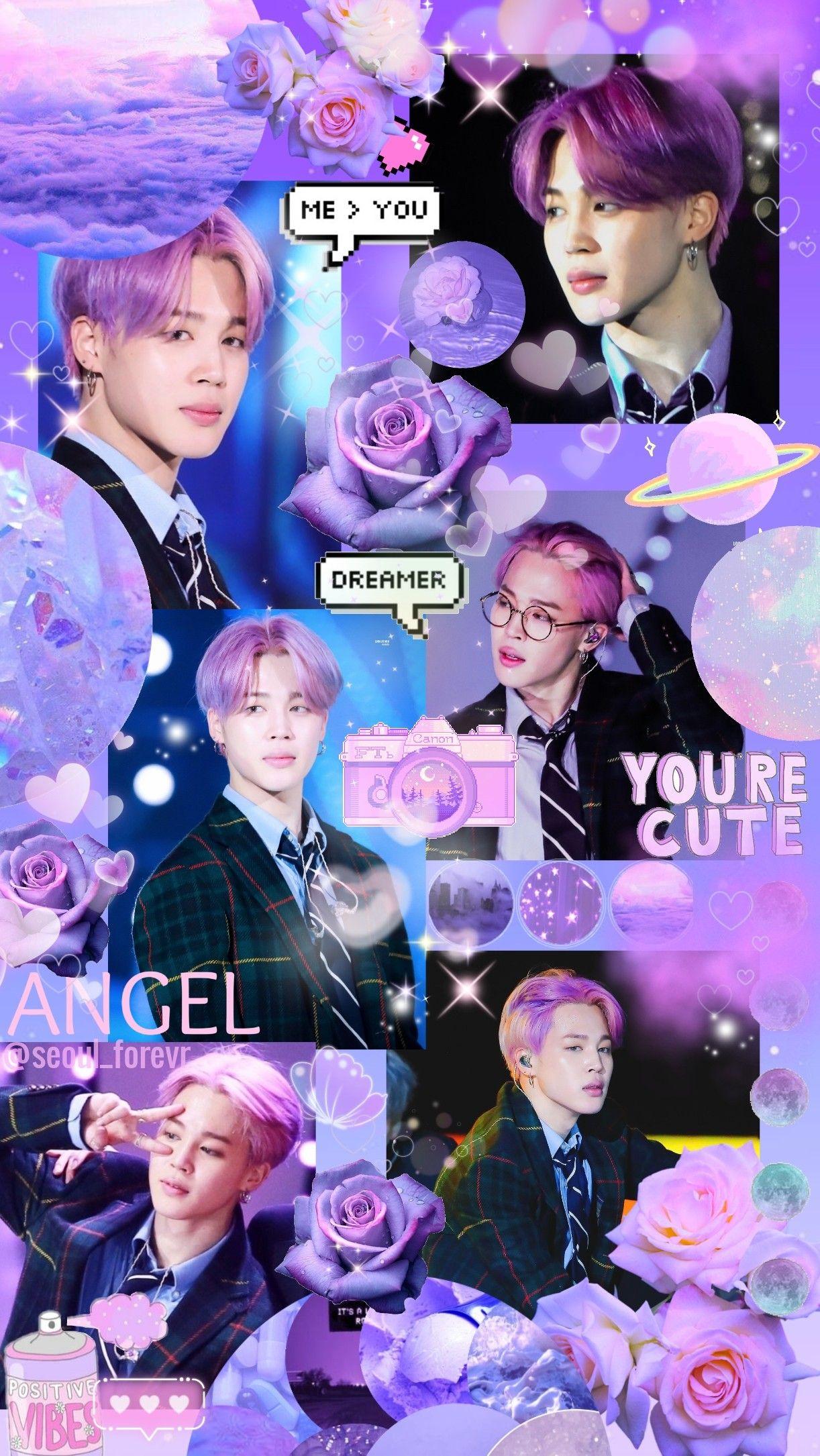 Bts Kpop Jimin Purple Wallpaper Gambar Fotografi Wallpaper Ponsel