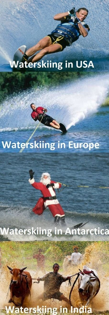 Waterskiing Don T Know What I D Be Without Water Funny Photo Captions Funny Pictures Funny Photos