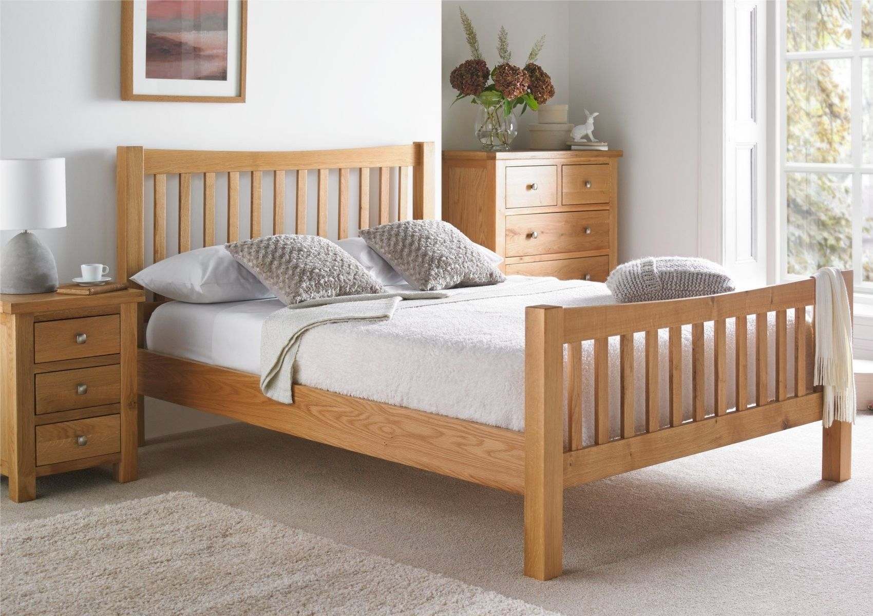 . Dorset Oak Bed Frame   Light wood   Wooden Beds   Beds   Home