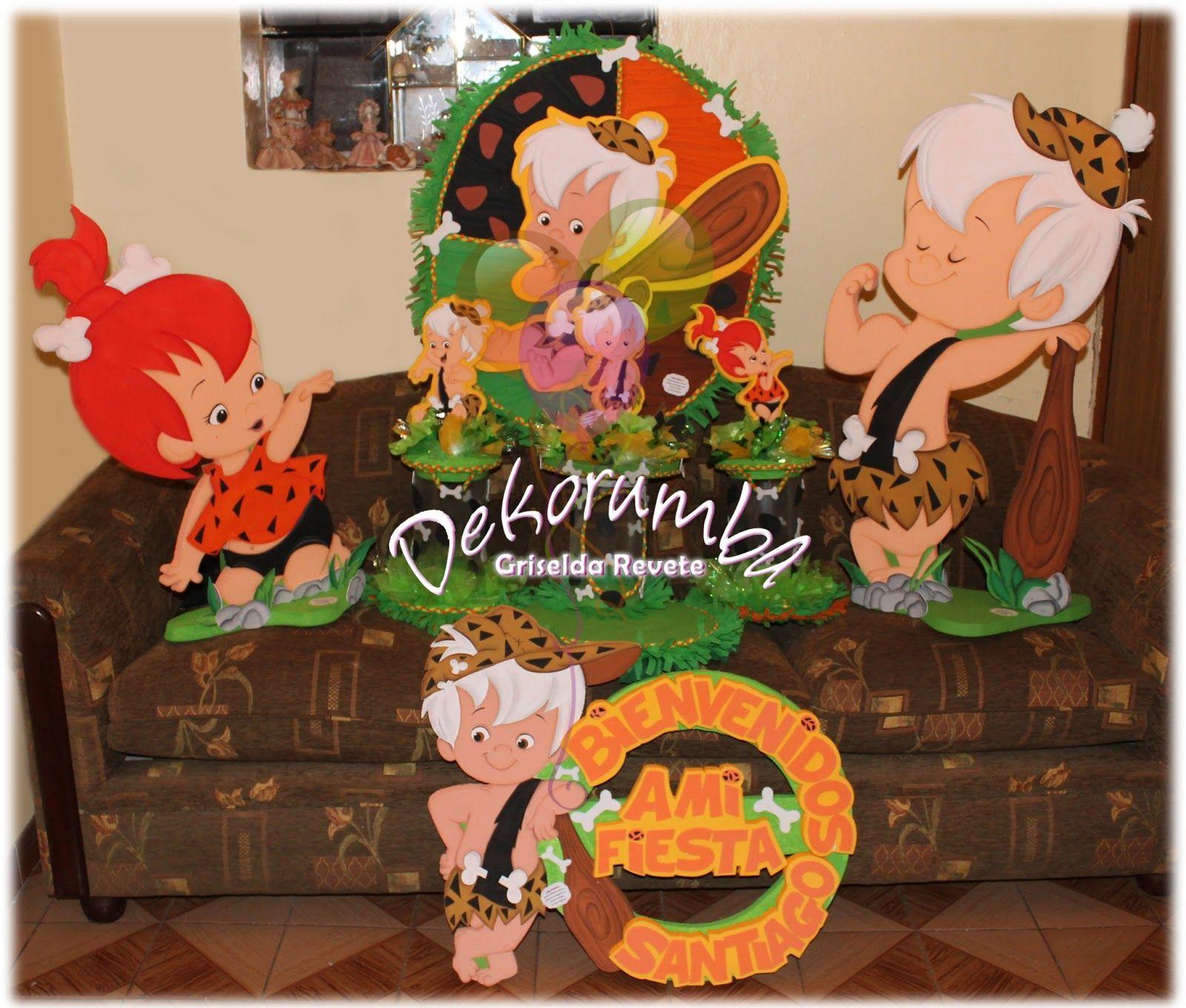 Flintstones Party. Pebbles Party. Decor Ideas
