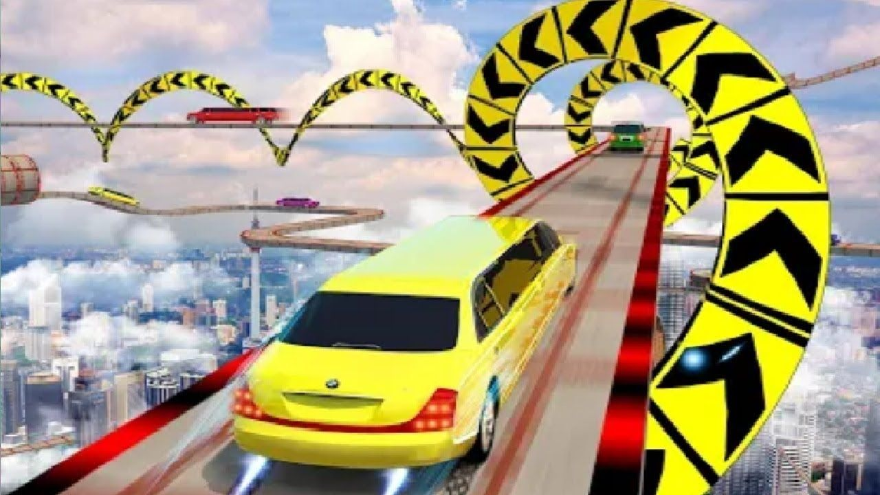 Fast Car Racing Stunt Master Limo Downhill Action