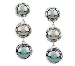 Honora Cultured Pearl Graduated Triple Drop Sterling Earrings