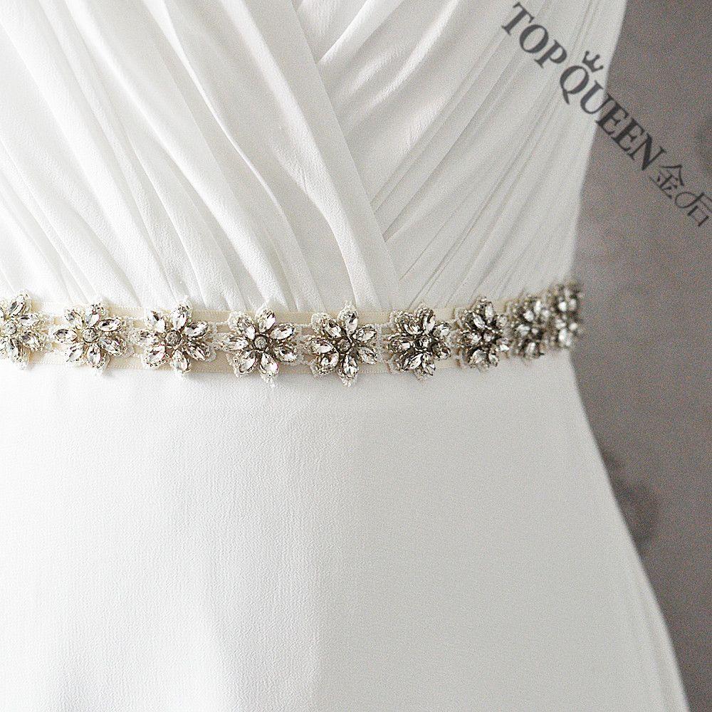 Rhinestone wedding dresses  TOPQUEEN Womenus S Crystals Rhinestones Wedding Evening Party