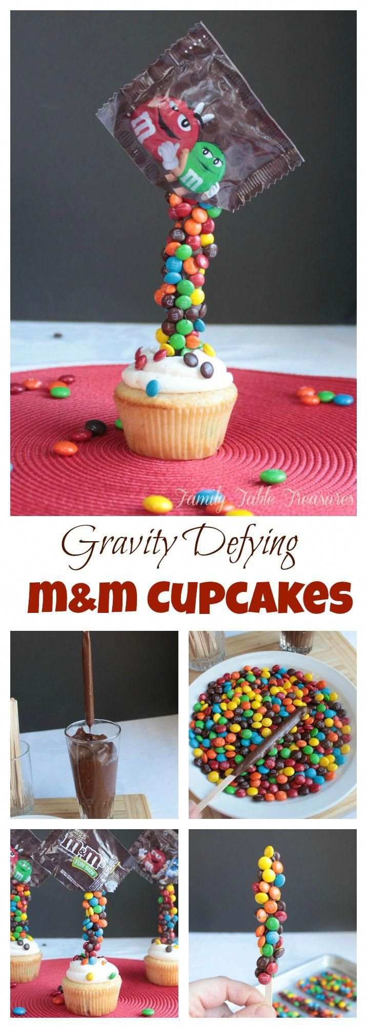 Photo of Gravity Defying M&M #cupcakes                                                   …