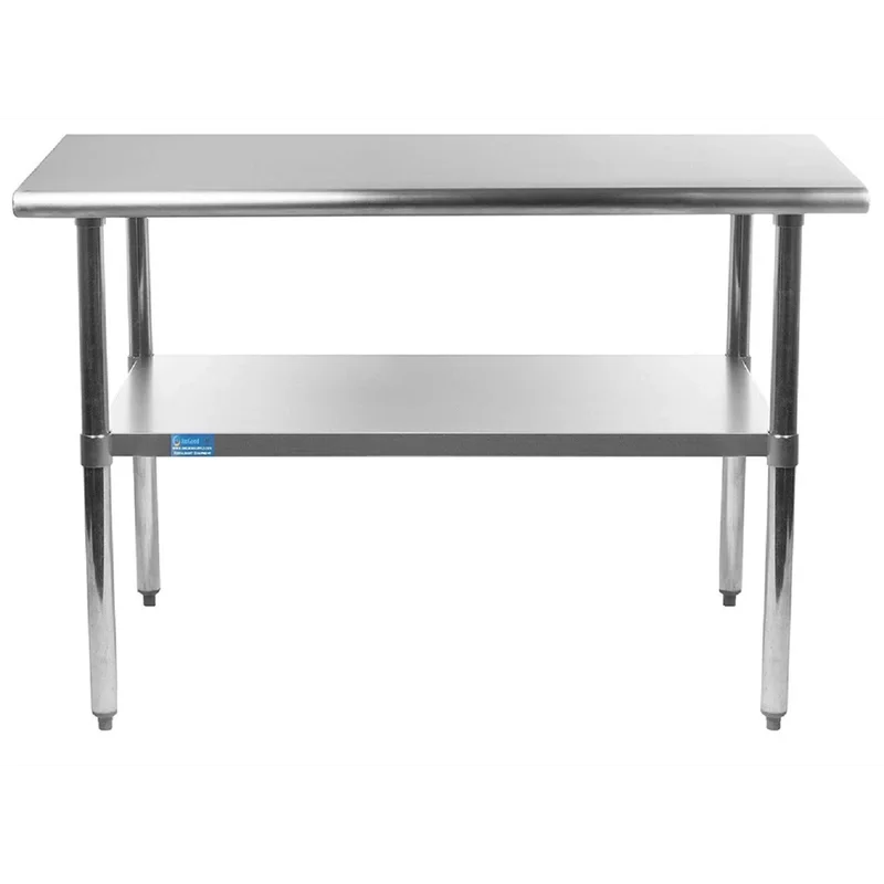 Stainless Steel Work Table With Undershelf In 2020 Stainless Steel Work Table Stainless Steel Table Work Table