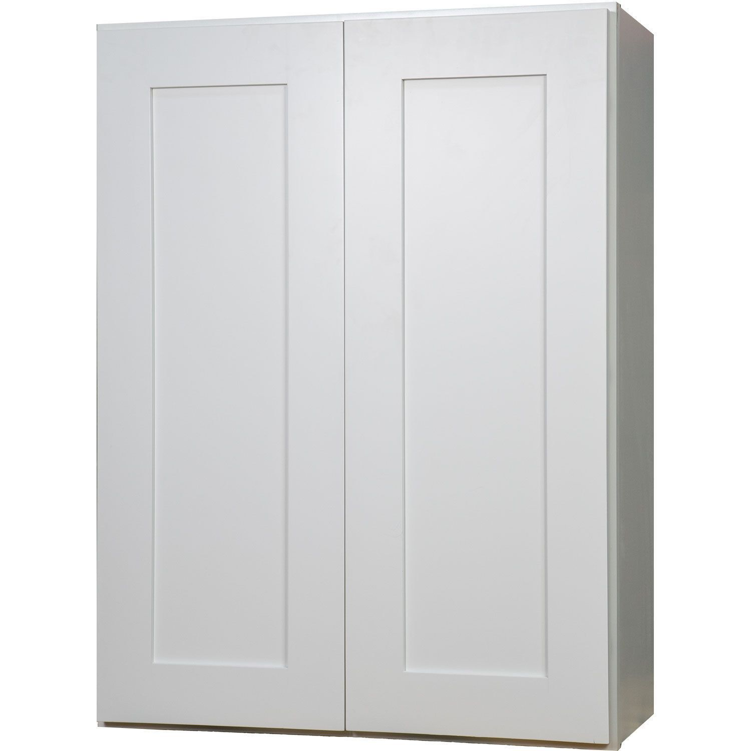 Everyday Cabinets 24 Inch White Shaker Double Door Wall Kitchen Cabinet White Shaker Kitchencabinetsqu Adjustable Shelving Wall Cabinet Wall Mounted Cabinet