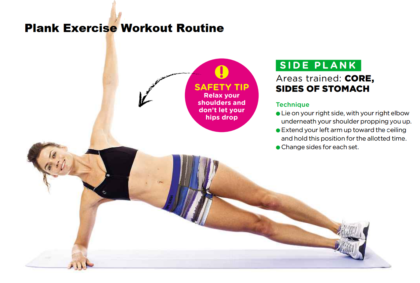 planking exercise routines | The Side Plank Exercise For Women ...