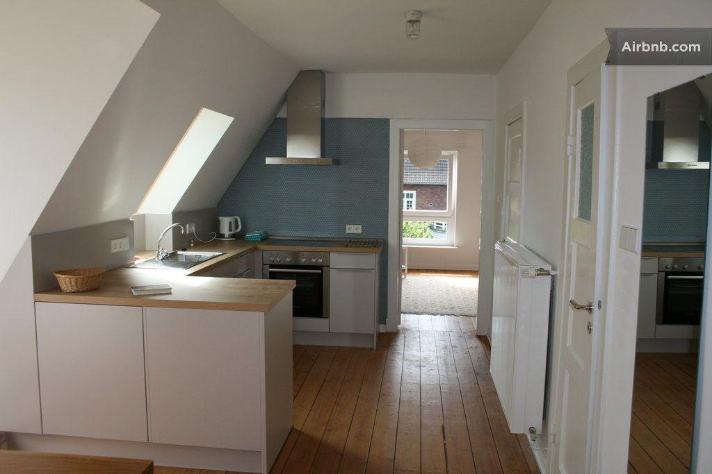 Top-Dachgeschosswohnung Elbvorort in Hamburg home Pinterest - kleine küche dachschräge