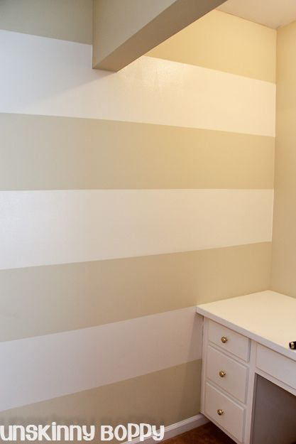 The Lazy Girl\'s Timesaving Tips For Painting Wall Stripes. My next ...