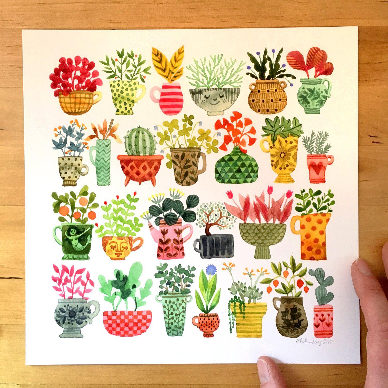 Happy Plants — STRIPED PEAR STUDIO